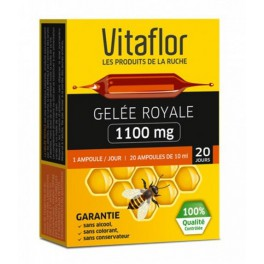 VITAFLOR GELEE ROYALE BIO 1100MG SOLUTION BUVABLE 20 AMPOULES DE 10ML