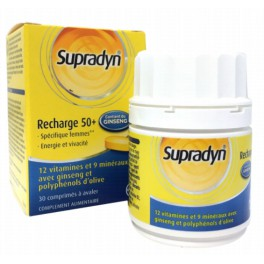 SUPRADYN RECHARGE 50+ GINSENG 30 COMPRIMES