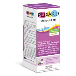 PEDIAKID IMMUNO-FORT SIROP MYRTILLE 125ml