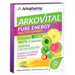ARKOVITAL PUR'ENERGIE MULTIVIT EXPERT 60GELULES