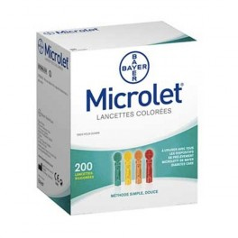 MICROLET LANCETTES COLOREES SILICONEES X200