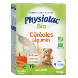 PHYSIOLAC CEREALES BIO LEGUMES VERT 200G
