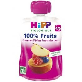 HIPP COMPOTE POM PECH FR GOURD90G