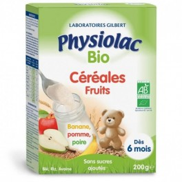 PHYSIOLAC CEREALES BIO FRUIT B/200g