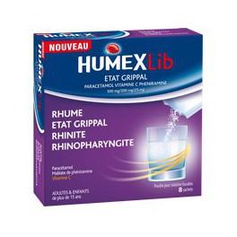 HUMEX LIB ETAT GRIPPAL 8 SACHETS