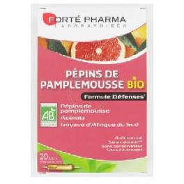 Forte pharma Pépins de Pamplemousse Bio 20 ampoules 10 ml