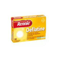 RENNIE DEFLATINE SANS SUCRE COMPRIMES 18