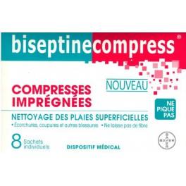BISEPTINE 8 COMPRESSES IMPREGNEES