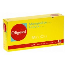 OLIGOSOL MN-CU, 28 ampoules buvables 2ML