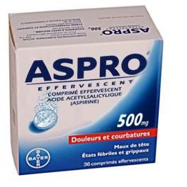 ASPRO 500, 36 comprimés effervescents