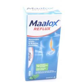 MAALOX REFLUX, menthe sans sucre, 12 sachets buvables