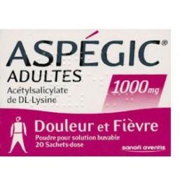 ASPEGIC 1000MG, poudre buvable, 30 sachets
